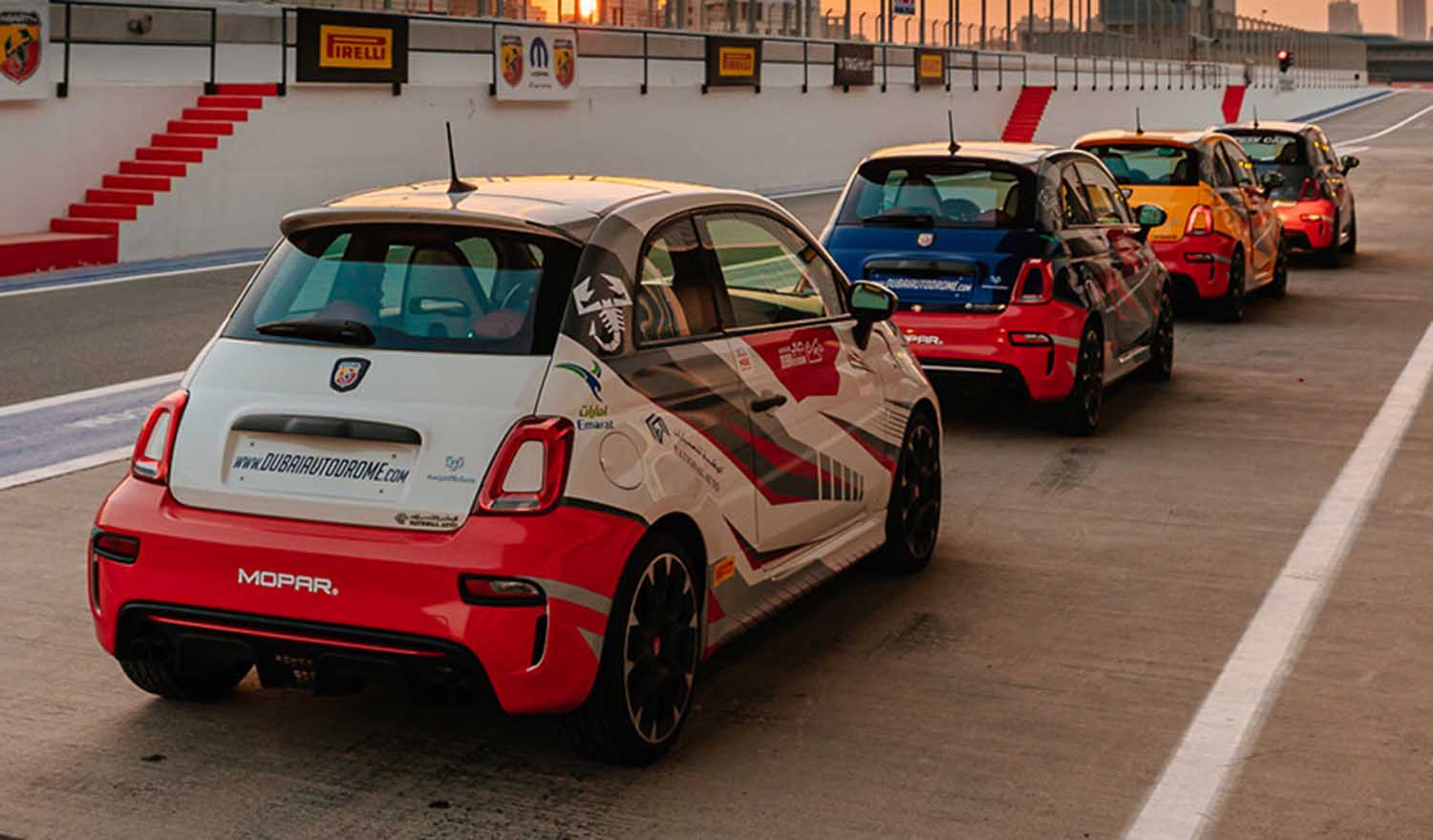 Italian Performance Brand Abarth Announced as the Official Vehicle Partner of Dubai Autodrome for 2021