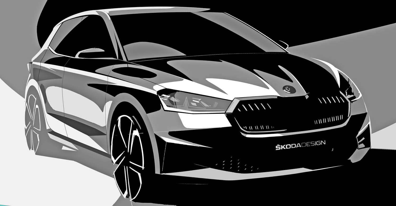 Škoda Releases Exterior Design Sketches Of The New Fabia