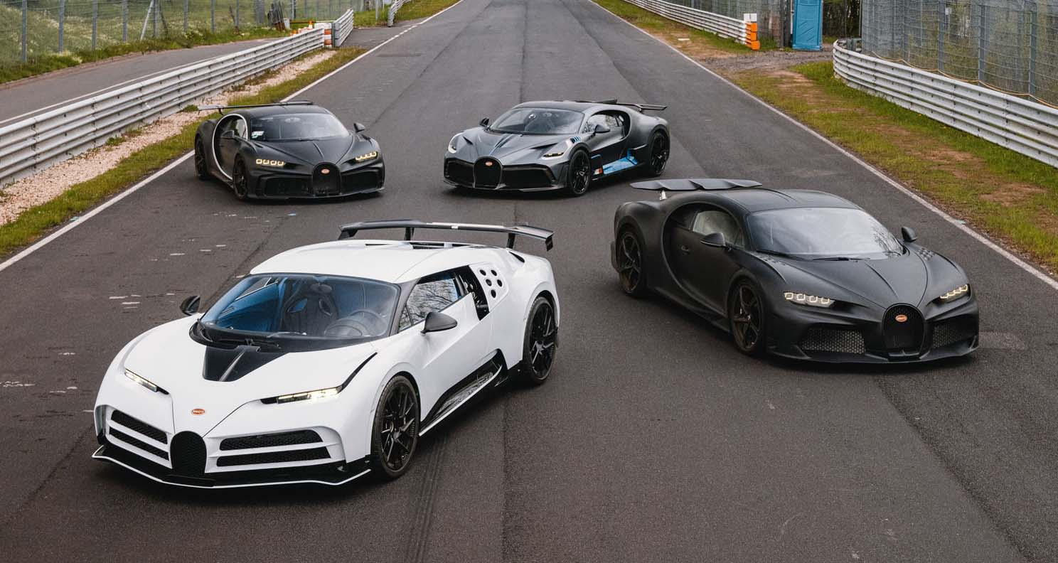 Bugatti Takes the World's Most Exclusive Development Lineup to the Nürburgring