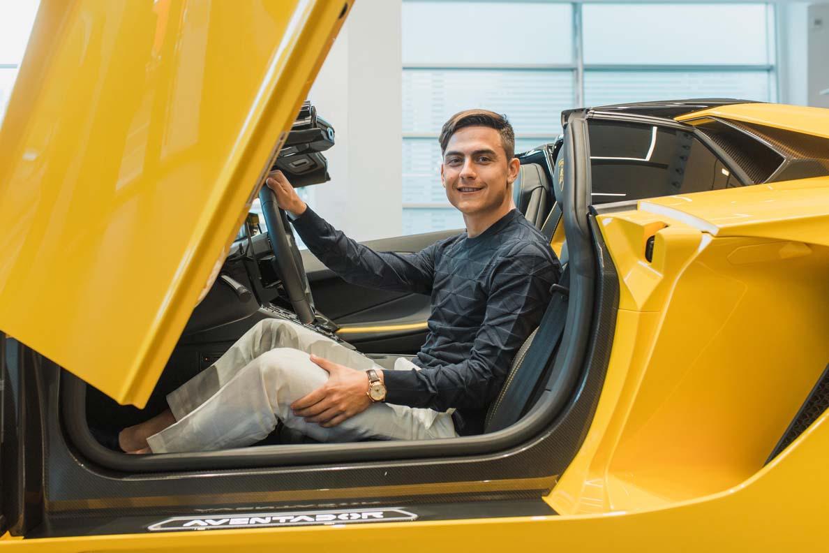 Football Star Paulo Dybala Celebrates 100th Goal with a New Lamborghini
