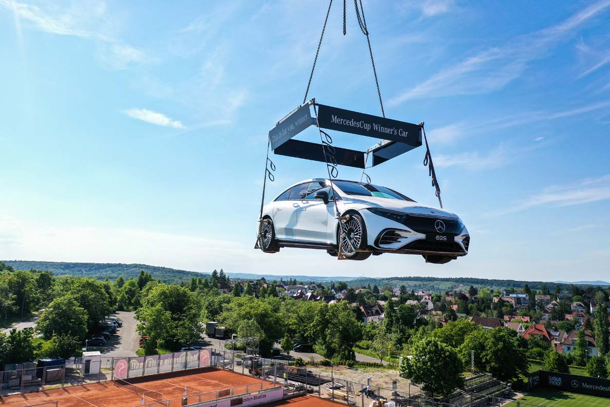 Tennis MercedesCup – The New EQS Is The Official Winner's Car